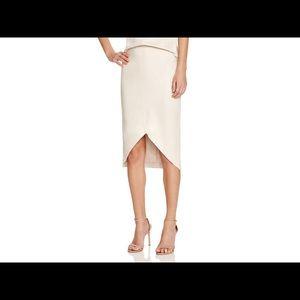 AQUA Faux Suede Pencil Skirt Sz M